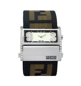 Fendi Zip Code Watch with Diamond Dial