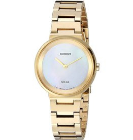 Ladies Seiko Solar Essentials Yellow Tone Watch