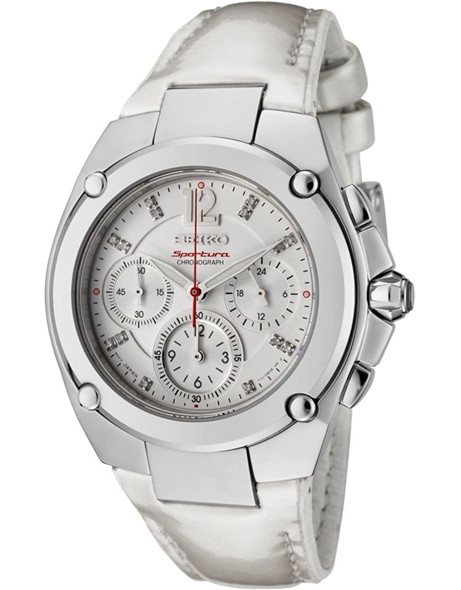 Ladies Seiko Sportura Chronograph Watch with Diamond Dial , 38mm