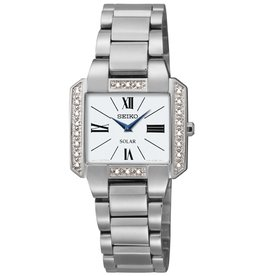 Ladies Seiko Solar Tressia Diamond Bezel Watch