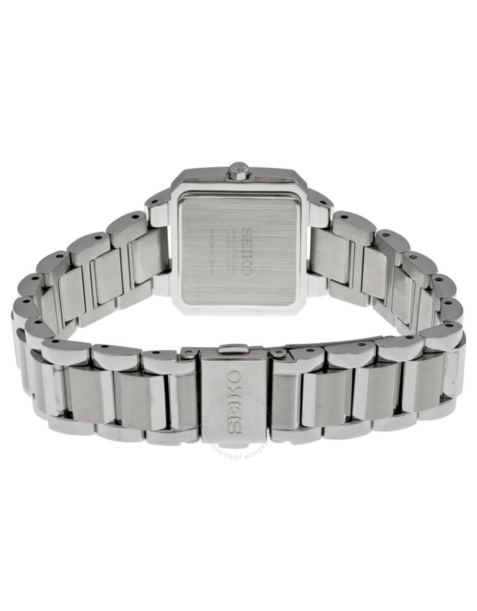 Ladies Seiko Solar Tressia Diamond Bezel Watch, 27mm