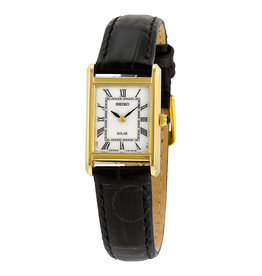 Ladies Seiko Solar Rectangular Roman Numeral Watch