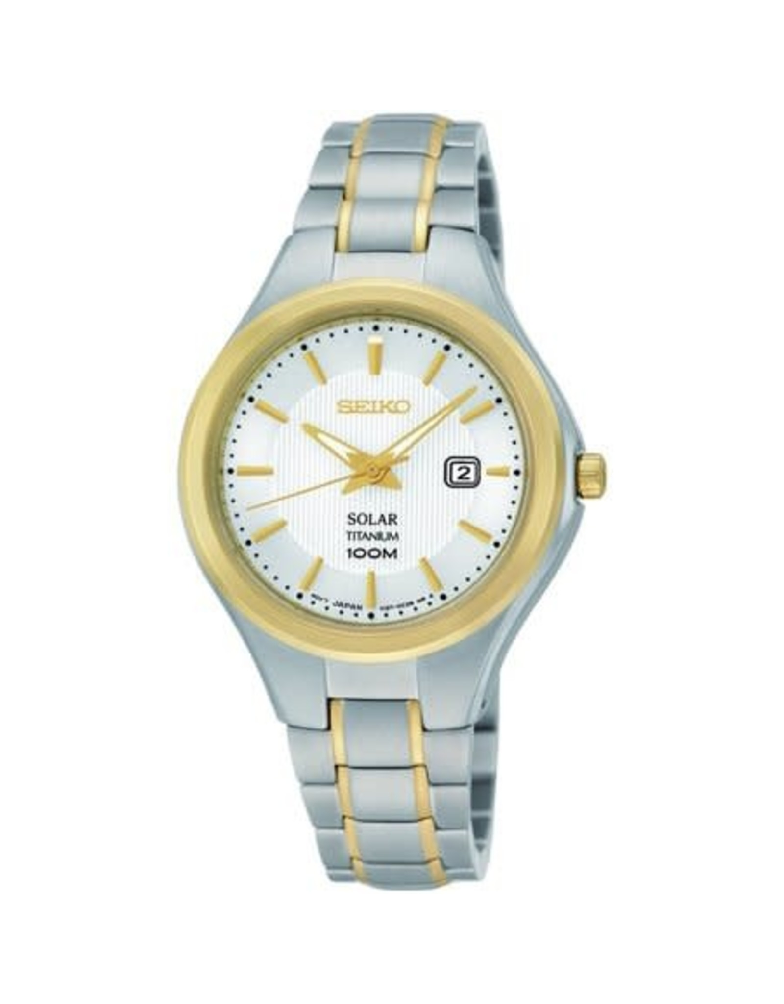 Ladies Seiko Solar 2-tone Titanium Watch, 28mm