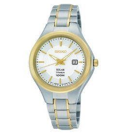 Ladies Seiko Solar 2-tone Titanium Watch
