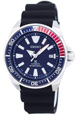 Mens Seiko Automatic Divers Watch with Silicone Band and Navy Blue Dial, 45mm