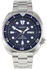 Mens Seiko Automatic Divers Watch with Stainless Steel Band and Navy Blue Dial, 44mm
