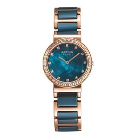 Ladies Blue Ceramic Bering Watch