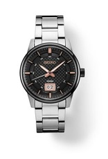 Mens Seiko Brown and Black Dial Essentials Watch with Stainless Steel Band, 41mm