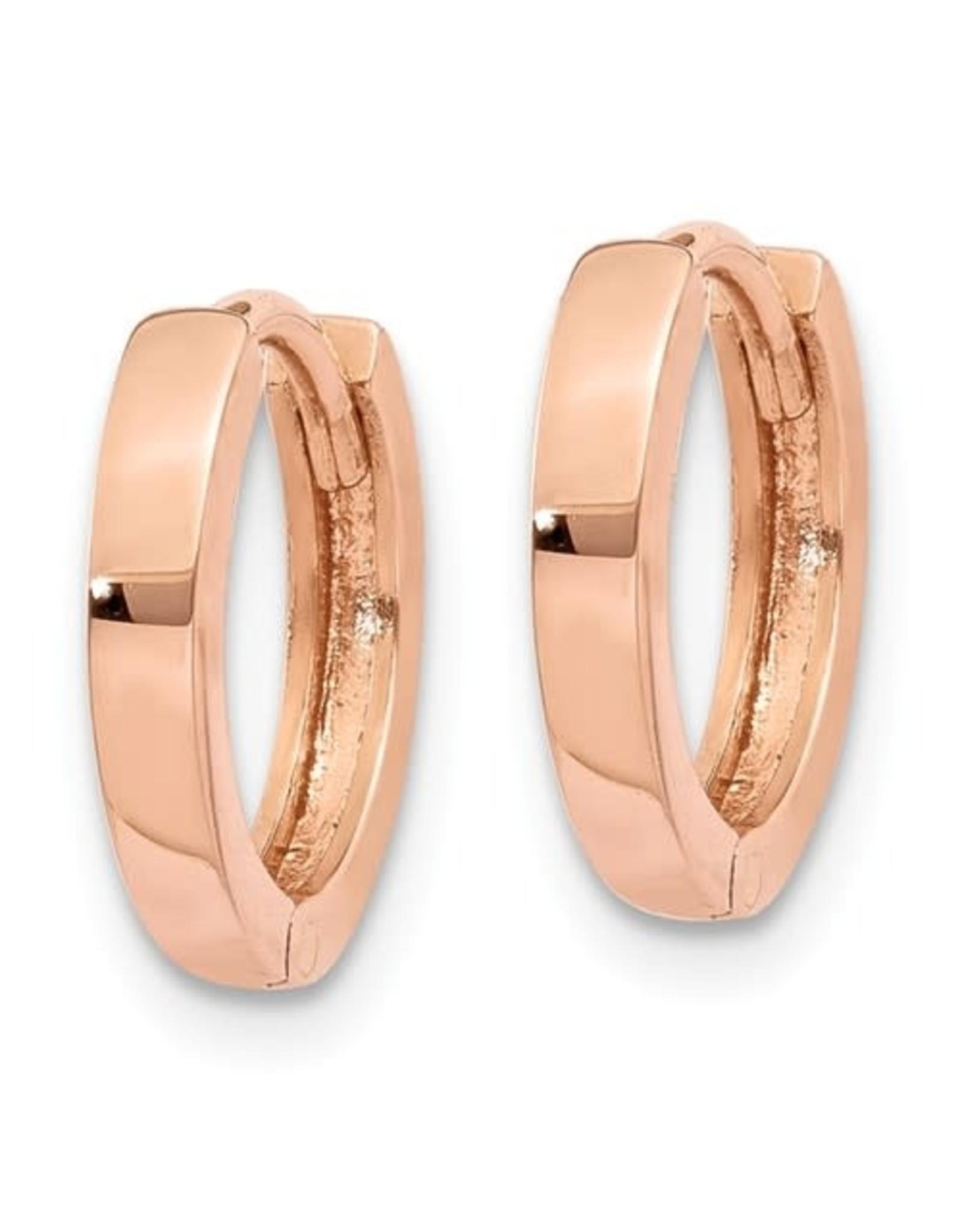 14K Rose Gold Essential Huggie Earrings