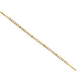 14K Y/G Dainty Diamond Bracelet