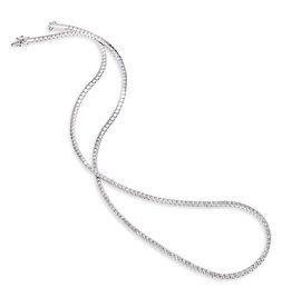 14K W/G Half- Around Tennis Necklace