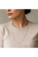 Two-Tone Minimalist Layering Necklace- 3934SY/60