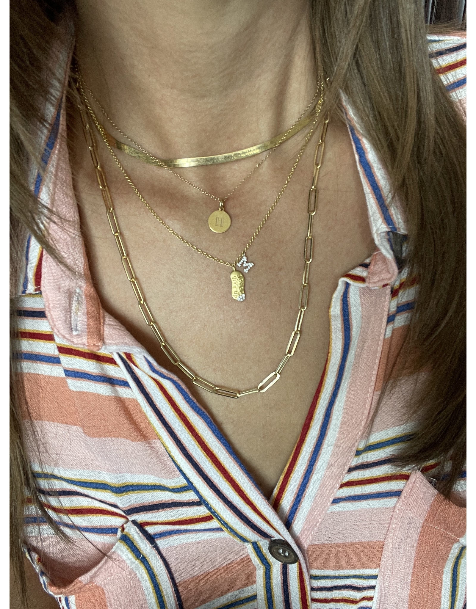 """14K Yellow Gold Paperclip Necklace, 20"""", 8.5dwts"""