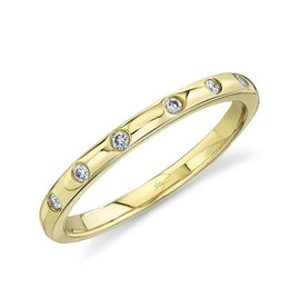 14K Y/G Diamond Stackable Band
