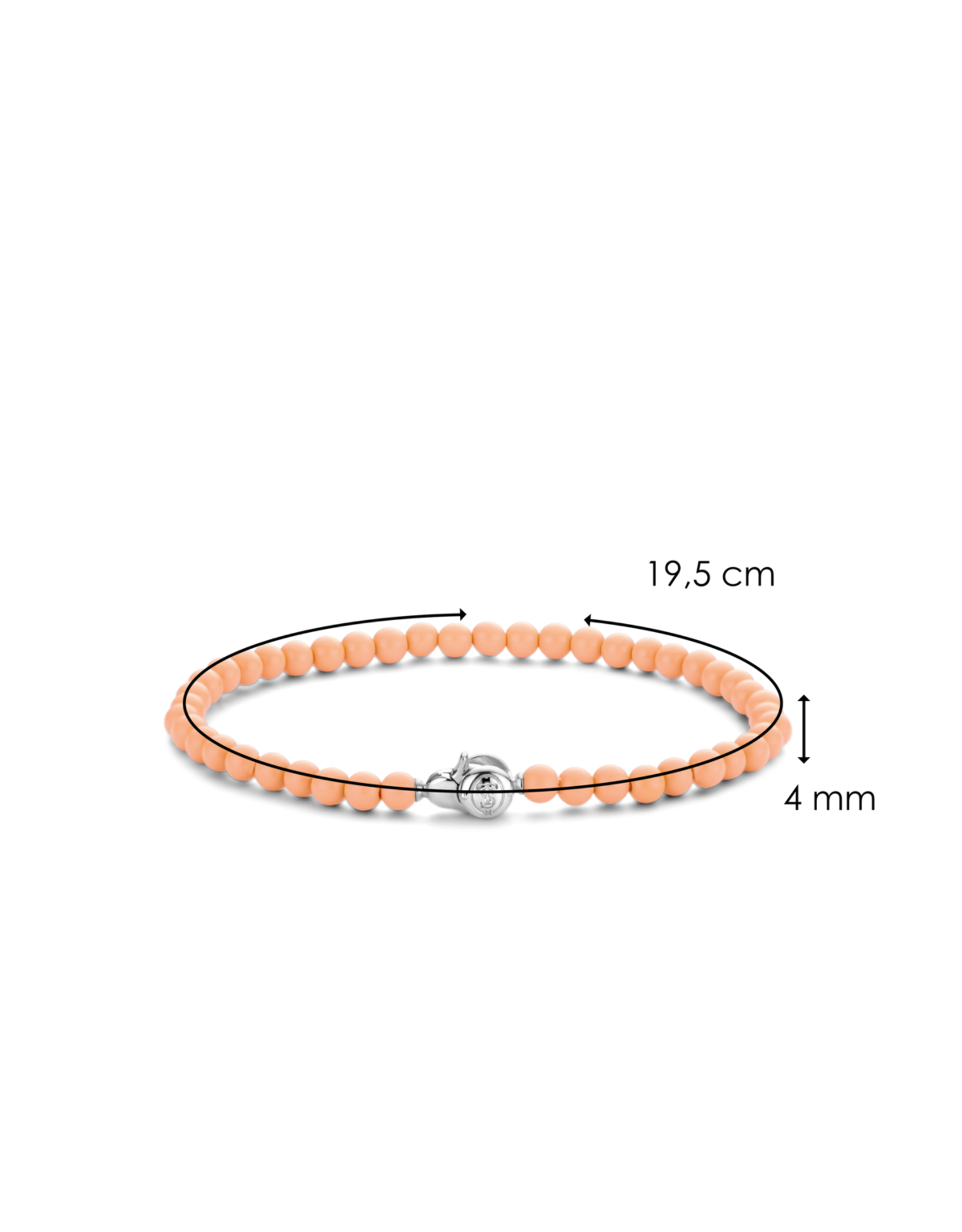 Dainty Coral Pink Beaded Bracelet- 2908CP