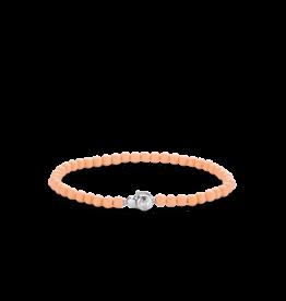 Dainty Coral Pink Beaded Bracelet