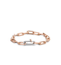 Small Rose Gold Plated Paperclip Bracelet