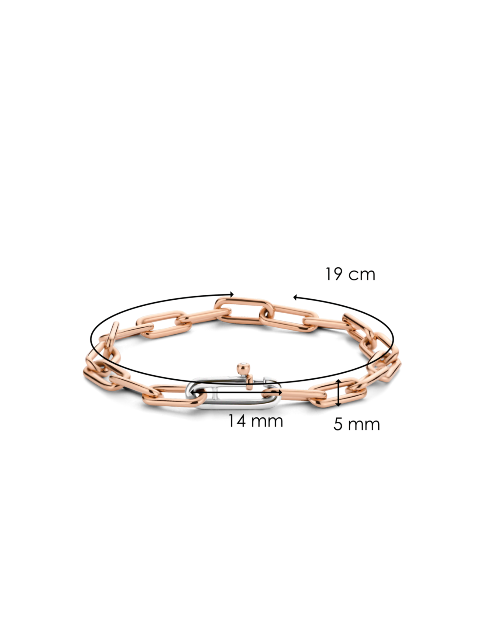 Small Rose Gold Plated Paperclip Bracelet- 2936SR