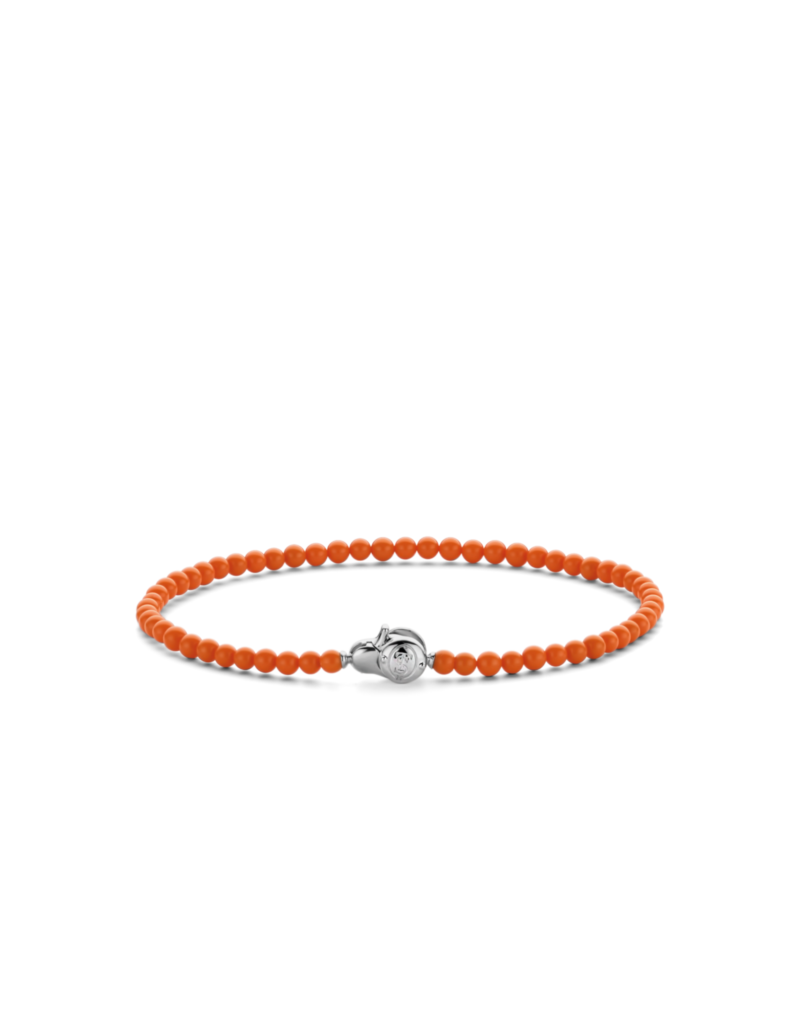 Dainty Coral Orange Beaded Bracelet- 2965CO