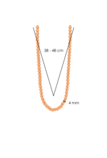 Coral Pink Beaded Necklace- 3916CP/42