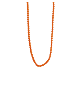 Coral Orange Beaded Necklace