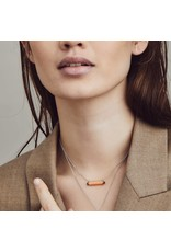 Coral Pink Tube Necklace- 3963CP/42