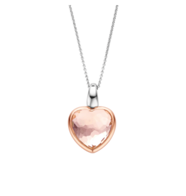Nude Pink Transparent Heart Necklace
