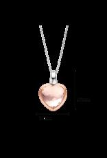 Nude Pink Transparent Heart Necklace - 6800NU