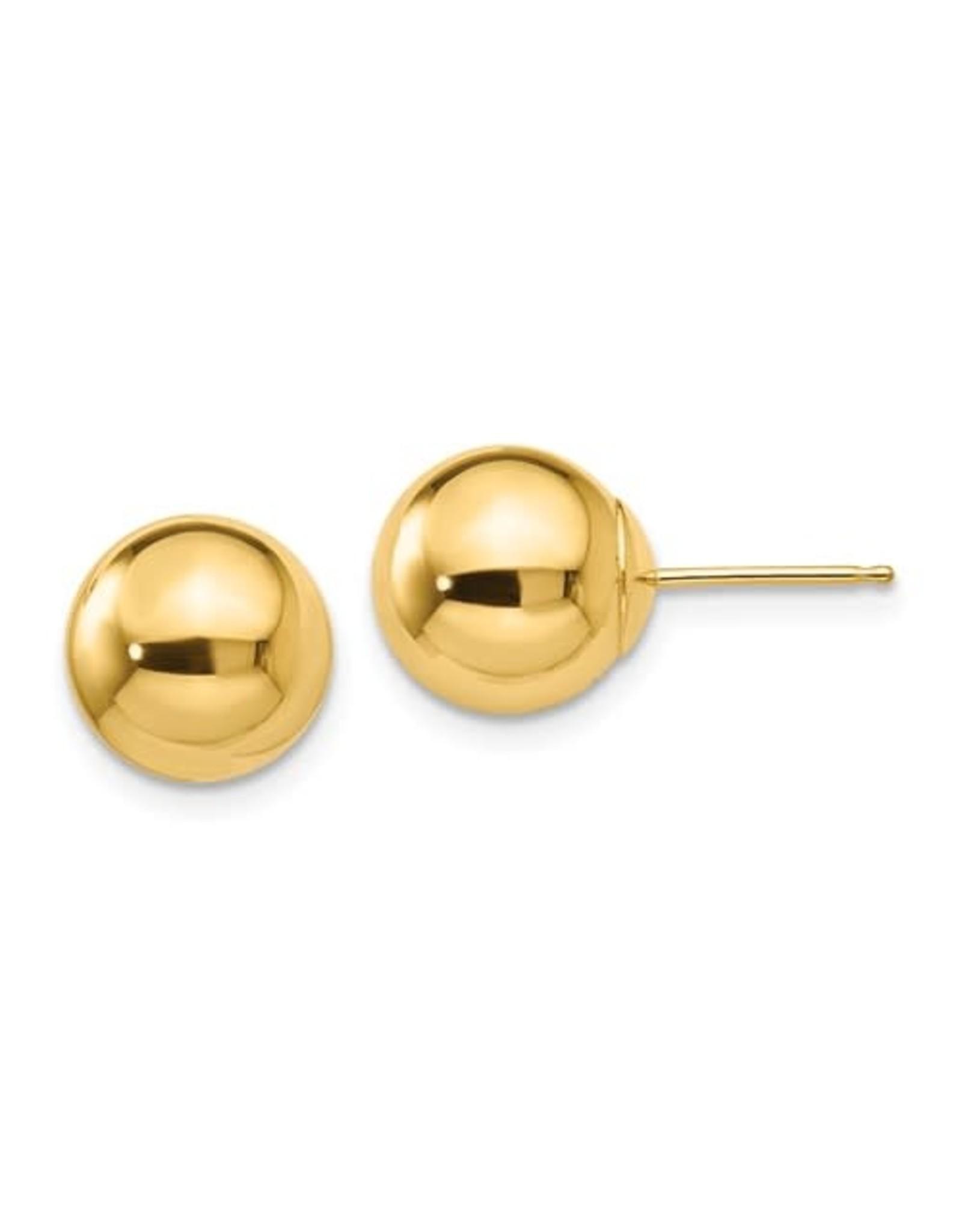 14K Yellow Gold 7mm Ball Stud Earrings