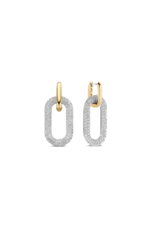 Pave Zirconia Chain Link Dangle Earrings- 7844ZY