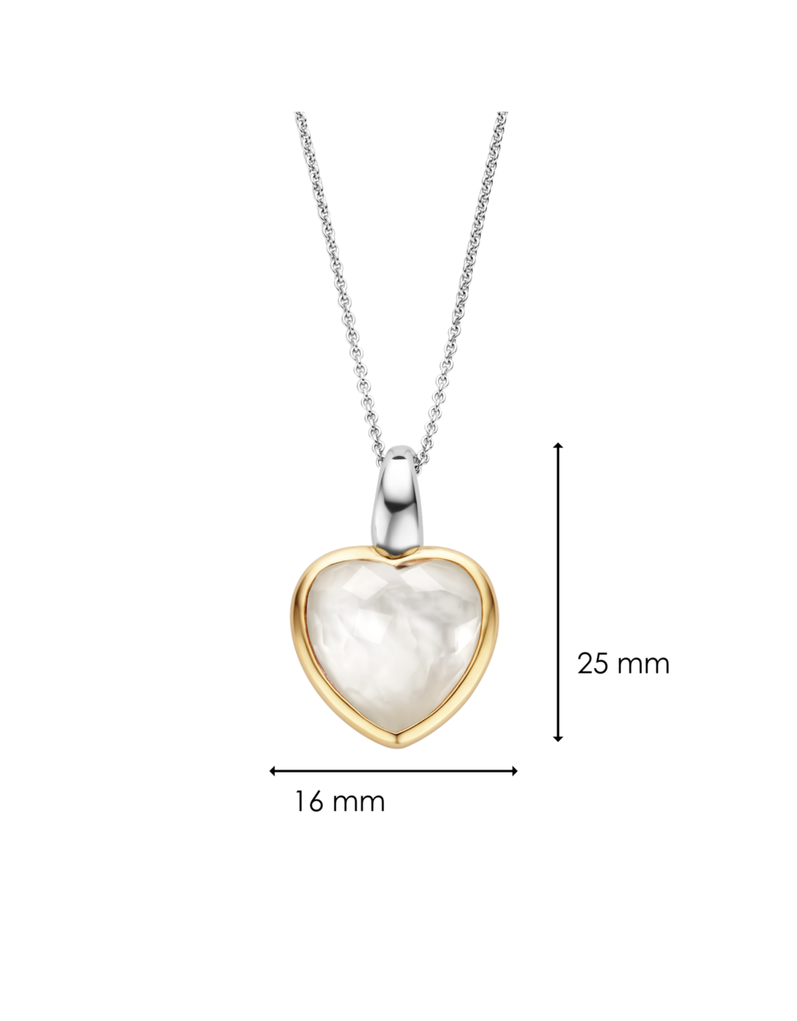 Mother of Pearl LOVE Heart- 6807MW