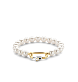 Pearl Bracelet with Golden Clasp