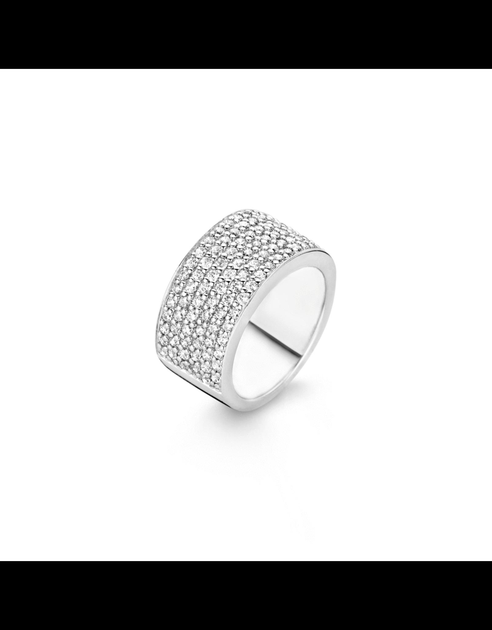 Glistening Six Row Pave Zirconia Fashion Ring- 1485ZI