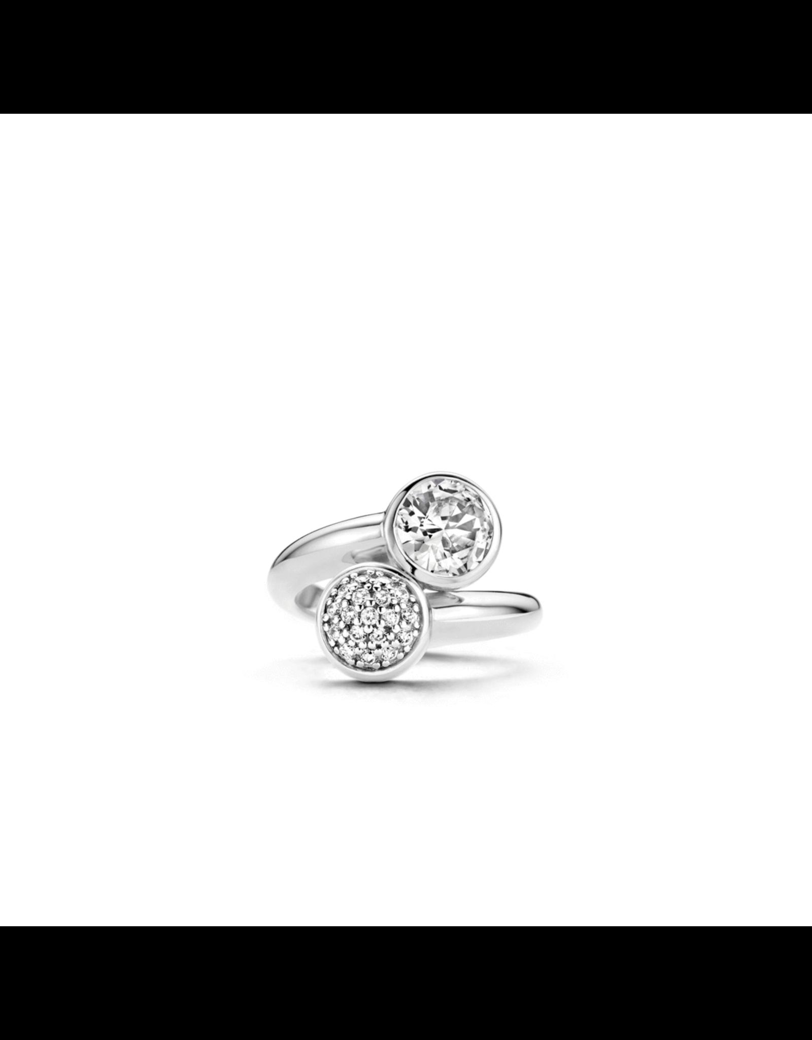 Ti Sento ByPass Zirconia Ring- 1840ZI/52