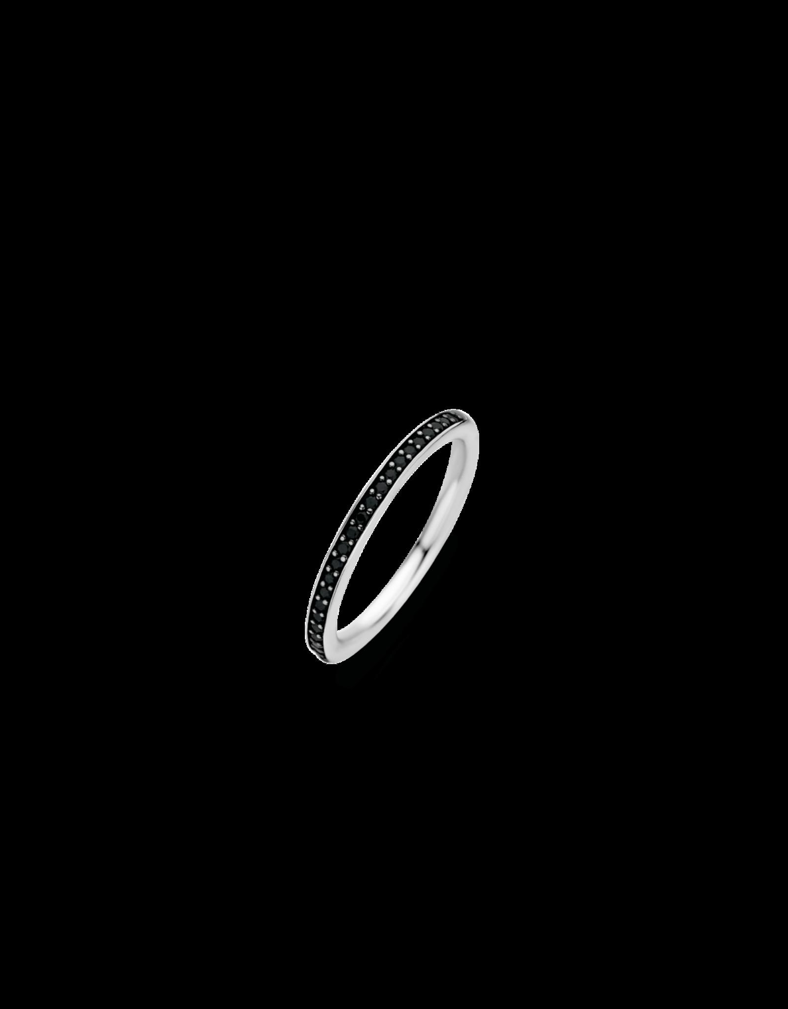 Stackable Black Zirconia Ring- 1923ZB/56