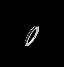 Stackable Black Zirconia Ring