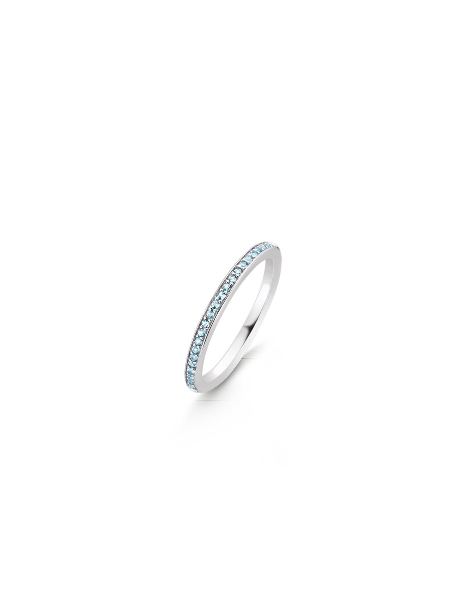 Stackable Light Blue Zirconia Ring- 1923WB/48