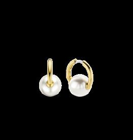 Simple Pearl Hoop Earrings