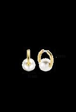 Simple Pearl Hoop Earrings- 7850PW