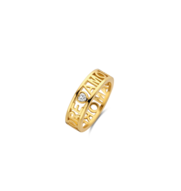 Yellow Gold Plated AMORE Ring