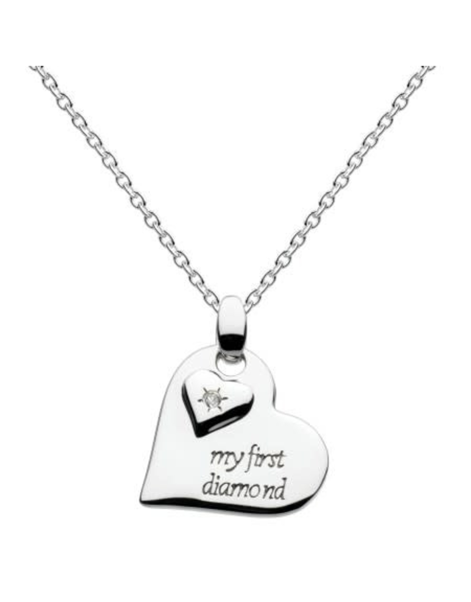 """My First Diamond Heart Necklace, 16"""" -18"""""""