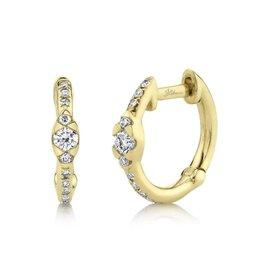 14K Y/G Diamond Huggie Earrings
