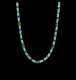 Turquoise, Lapis and Malachite Beaded Necklace