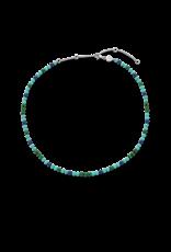 Turquoise, Lapis and Malachite Beaded Necklace- 3916TM/42