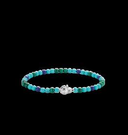 Turquoise, Lapis and Malachite Beaded Bracelet