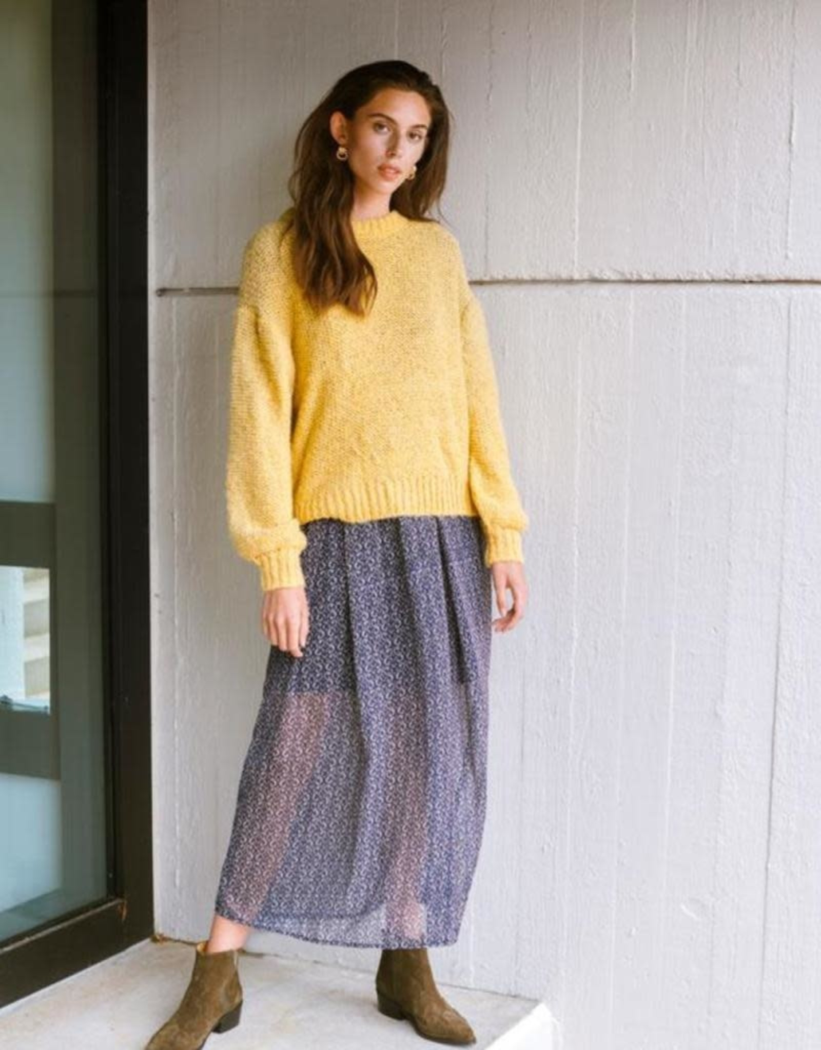 ICHI Ihlines Long Sleeve Pullover