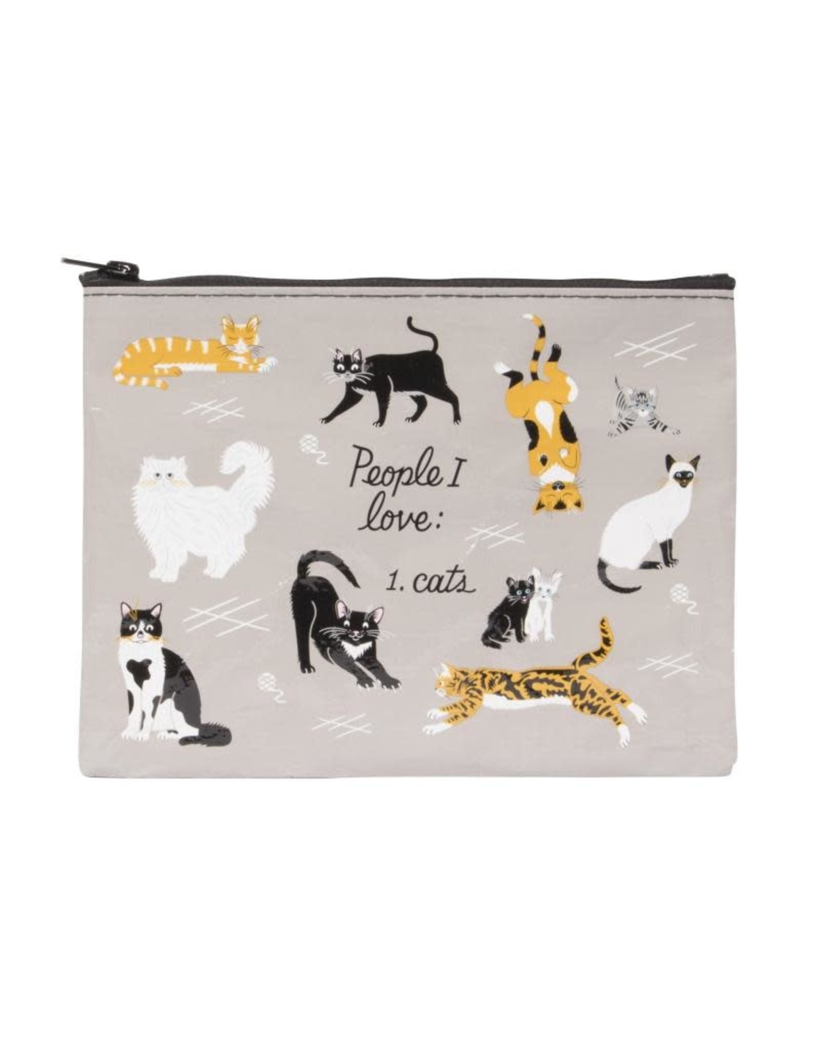 Blue Q People I Love: Cats Zipper Pouch