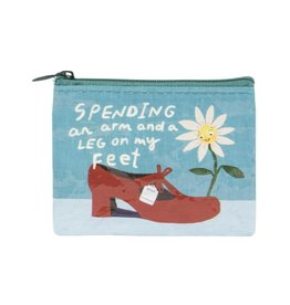 Blue Q Spending An Arm and A Leg on My Feet Coin Purse