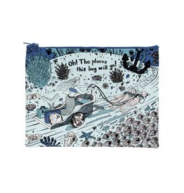 Blue Q Oh The Places You'll Go! Zipper Pouch