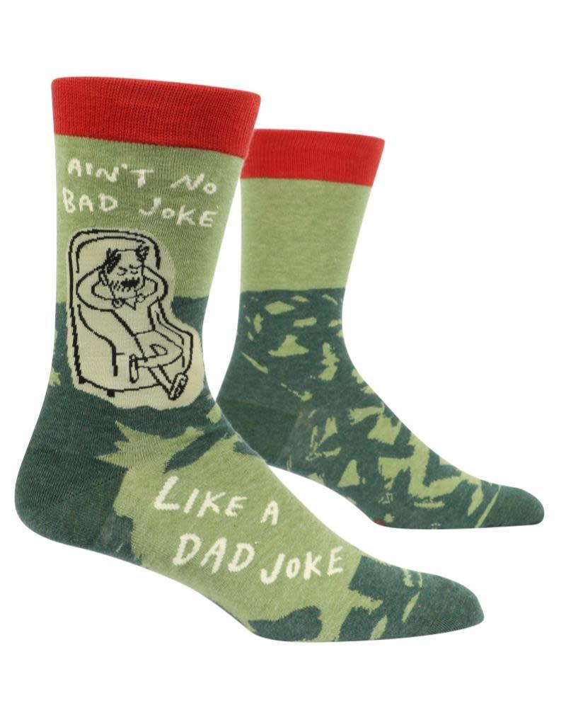 Blue Q No Bad Joke Like a Dad Joke Men's Crew Socks